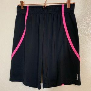 Reebok Bottoms - Reebok | EUC Black & Pink Basketball Shorts XL/16